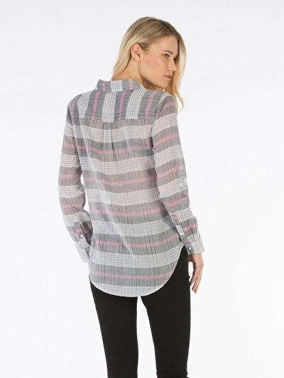 COLINS серый женский рубашки длинний рукав<br>Пол: женский; Цвет: серый; Размер INT: XS;