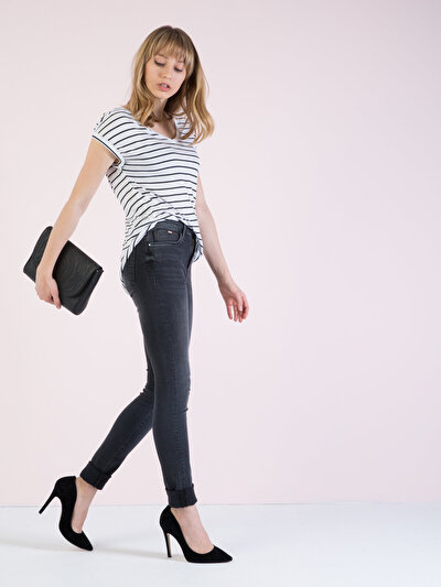 COLINS  женский брюки<br>Пол: женский; Цвет: лоджа уош; Размер INT: 29/30;