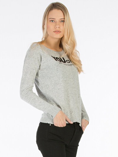 COLINS серый женский свитеры<br>Пол: женский; Цвет: смешанный серый; Размер INT: XS;