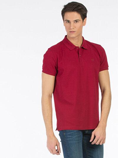 COLINS красный мужской футболки-поло к. рукав<br>Пол: мужской; Цвет: темно-красный; Размер INT: M;
