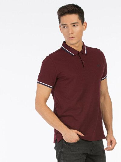 COLINS бордовый мужской футболки-поло к. рукав<br>Пол: мужской; Цвет: бордовый; Размер INT: L;
