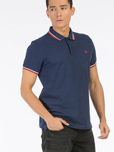 COLINS синий мужской футболки-поло к. рукав<br>Пол: мужской; Цвет: синий; Размер INT: XL;