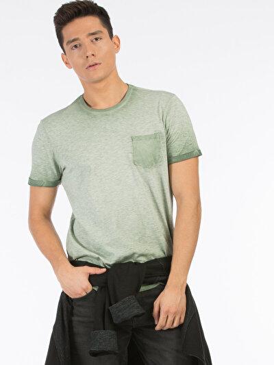 COLINS зеленый мужской футболки короткий рукав<br>Пол: мужской; Цвет: зеленый; Размер INT: M;