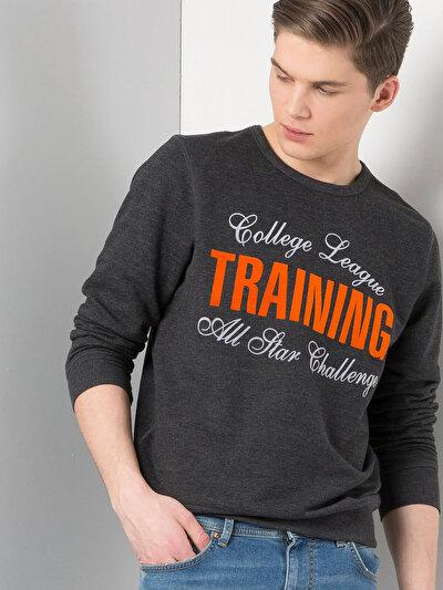 COLINS антрацит мужской толстовки<br>Пол: мужской; Цвет: смешанный антрацит; Размер INT: S;