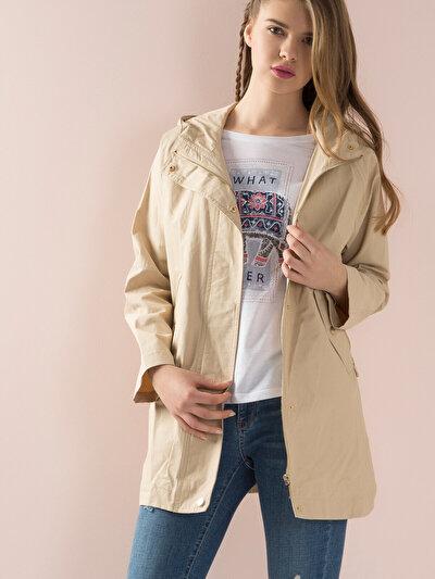 COLINS бежевый женский куртки<br>Пол: женский; Цвет: бежевый; Размер INT: M;