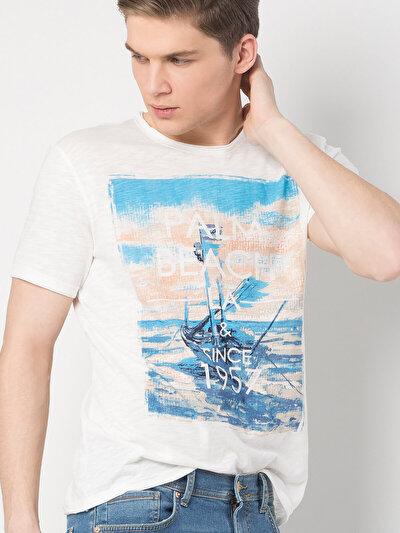 COLINS бежевый мужской футболки короткий рукав<br>Пол: мужской; Цвет: бежевый; Размер INT: XL;