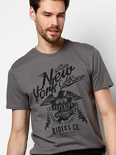 COLINS антрацит мужской футболки короткий рукав<br>Пол: мужской; Цвет: антрацит; Размер INT: M;