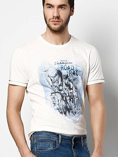 COLINS белый мужской футболки короткий рукав<br>Пол: мужской; Цвет: белый; Размер INT: XXL;
