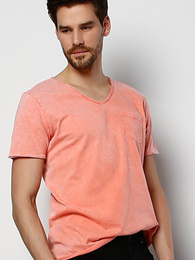 COLINS розовый мужской футболки короткий рукав<br>Пол: мужской; Цвет: розовый; Размер INT: XXL;