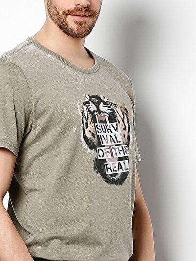 COLINS хаки мужской футболки короткий рукав<br>Пол: мужской; Цвет: хаки; Размер INT: XL;
