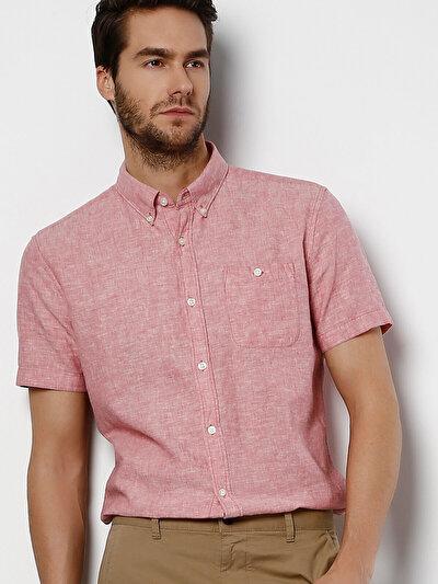 COLINS розовый мужской рубашки короткий рукав<br>Пол: мужской; Цвет: рос пинк; Размер INT: S;