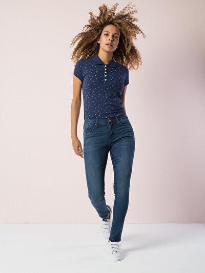 COLINS синий женский футболки короткий рукав<br>Пол: женский; Цвет: синий; Размер INT: XS;
