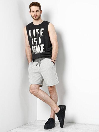COLINS серый мужской шорты<br>Пол: мужской; Цвет: смешанный серый; Размер INT: XL;
