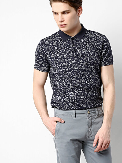 COLINS синий мужской футболки-поло к. рукав<br>Пол: мужской; Цвет: синий; Размер INT: M;