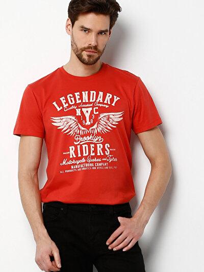 COLINS кораловый мужской футболки короткий рукав<br>Пол: мужской; Цвет: кораловый; Размер INT: M;