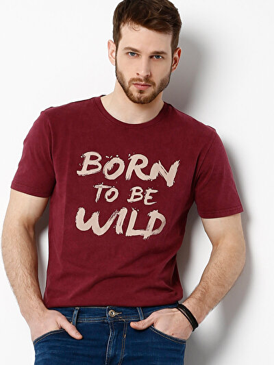COLINS бордовый мужской футболки короткий рукав<br>Пол: мужской; Цвет: бордовый; Размер INT: S;
