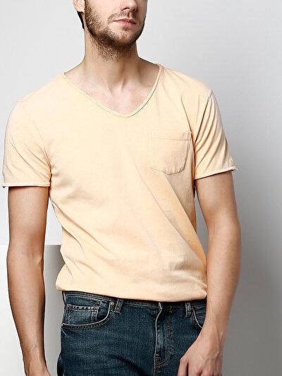 COLINS  мужской футболки короткий рукав<br>Пол: мужской; Цвет: светло оранжевый; Размер INT: M;