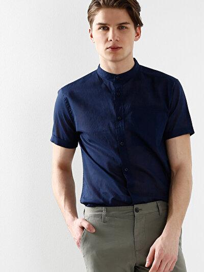 COLINS синий мужской рубашки короткий рукав<br>Пол: мужской; Цвет: синий; Размер INT: XXL;