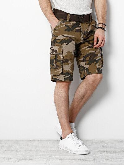 COLINS хаки мужской шорты<br>Пол: мужской; Цвет: хаки; Размер INT: M;