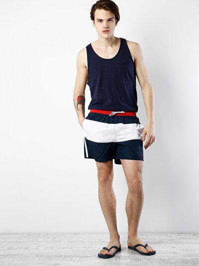 COLINS синий мужской пляжные шорты<br>Пол: мужской; Цвет: темно-синий; Размер INT: L;