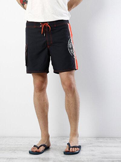 COLINS антрацит мужской пляжные шорты<br>Пол: мужской; Цвет: темный антрацит; Размер INT: S;