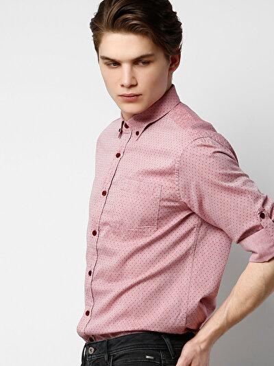 COLINS красный мужской рубашки длинний рукав<br>Пол: мужской; Цвет: красный; Размер INT: XXL;