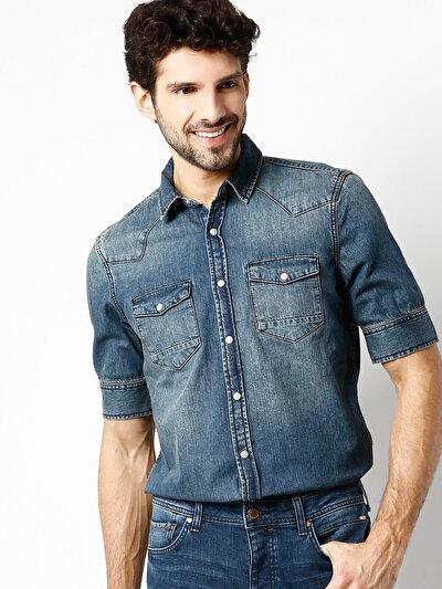 COLINS  мужской рубашки длинний рукав<br>Пол: мужской; Цвет: макро уош; Размер INT: None;