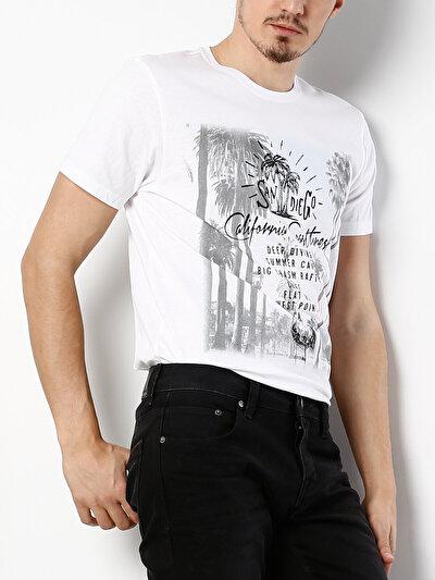 COLINS белый мужской футболки короткий рукав<br>Пол: мужской; Цвет: белый; Размер INT: S;