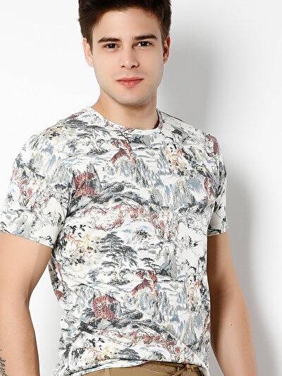 COLINS бежевый мужской футболки короткий рукав<br>Пол: мужской; Цвет: бежевый; Размер INT: S;