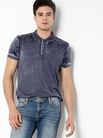 COLINS серый мужской футболки-поло к. рукав<br>Пол: мужской; Цвет: тёмно-серый меланж; Размер INT: M;