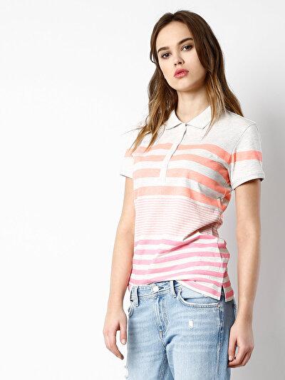 COLINS серый женский футболки короткий рукав<br>Пол: женский; Цвет: светло серый меланг; Размер INT: S;