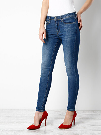 COLINS  женский брюки<br>Пол: женский; Цвет: мид стейси уош; Размер INT: 31;