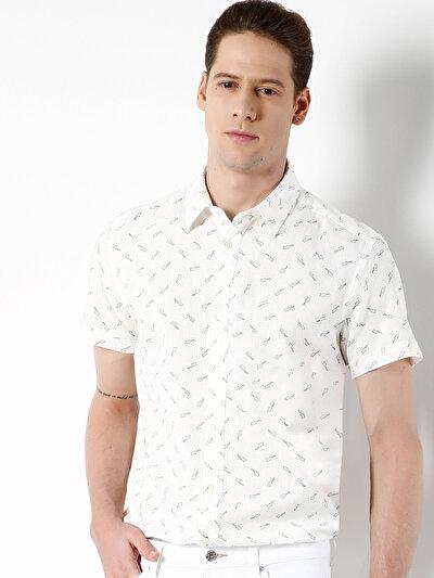 COLINS белый мужской рубашки короткий рукав<br>Пол: мужской; Цвет: белый; Размер INT: XXL;