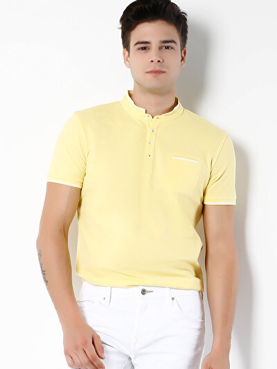COLINS желтый мужской футболки-поло к. рукав<br>Пол: мужской; Цвет: желтый; Размер INT: S;