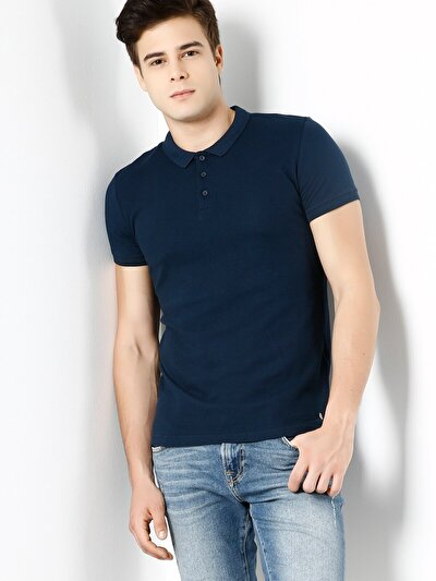 COLINS синий мужской футболки-поло к. рукав<br>Пол: мужской; Цвет: синий; Размер INT: XXL;