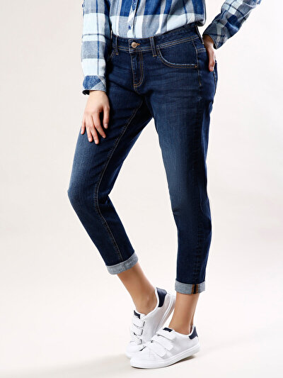 COLINS  женский брюки<br>Пол: женский; Цвет: дарк палила уош; Размер INT: 30;