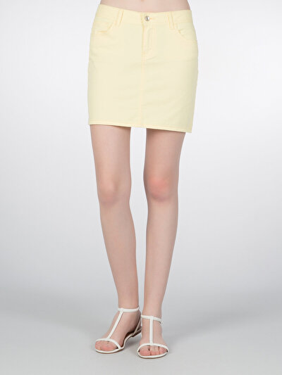 COLINS желтый женский юбки<br>Пол: женский; Цвет: светло-желтый; Размер INT: 40;