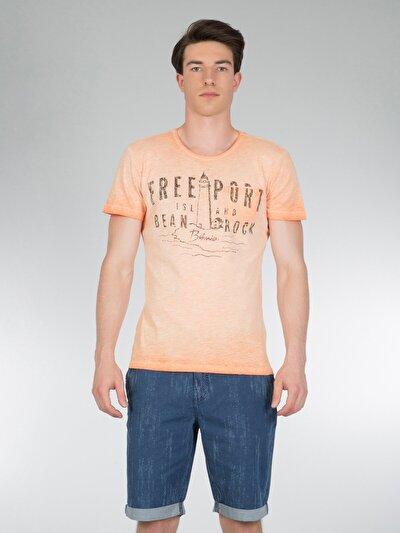 COLINS  мужской футболки короткий рукав<br>Пол: мужской; Цвет: светло оранжевый; Размер INT: XL;