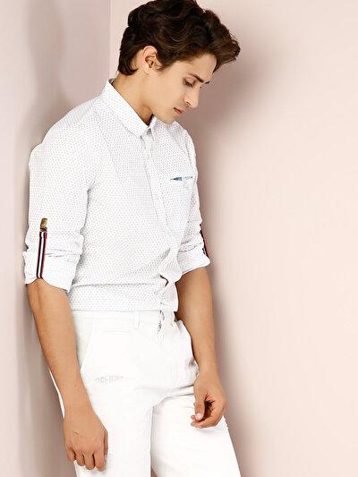 COLINS белый мужской рубашки длинний рукав<br>Пол: мужской; Цвет: белый; Размер INT: XXL;