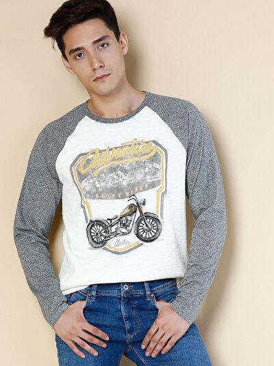 COLINS бежевый мужской футболки длинный рукав<br>Пол: мужской; Цвет: бежевый; Размер INT: XL;