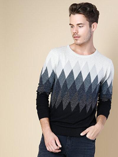COLINS антрацит мужской свитеры<br>Пол: мужской; Цвет: смешанный антрацит; Размер INT: M;