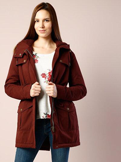 COLINS пурпурный женский пальто<br>Пол: женский; Цвет: сливовый; Размер INT: XS;
