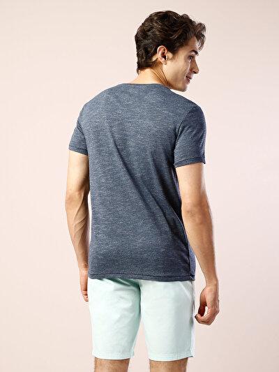 COLINS синий мужской футболки короткий рукав<br>Пол: мужской; Цвет: синий меланж; Размер INT: M;
