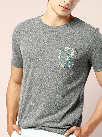 COLINS  мужской футболки короткий рукав<br>Пол: мужской; Цвет: хаки меланж; Размер INT: M;