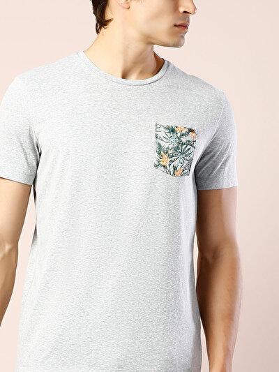 COLINS серый мужской футболки короткий рукав<br>Пол: мужской; Цвет: смешанный серый; Размер INT: XXL;