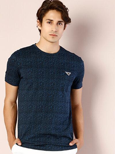 COLINS синий мужской футболки короткий рукав<br>Пол: мужской; Цвет: синий; Размер INT: L;