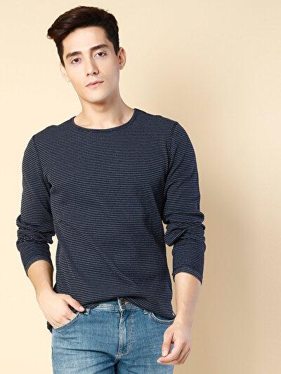 COLINS синий мужской футболки длинный рукав<br>Пол: мужской; Цвет: синий; Размер INT: L;