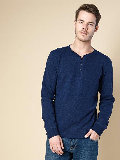 COLINS синий мужской футболки длинный рукав<br>Пол: мужской; Цвет: синий; Размер INT: XXL;