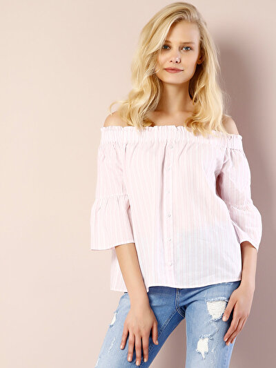 COLINS розовый женский рубашки длинний рукав<br>Пол: женский; Цвет: светло-розовый; Размер INT: M;