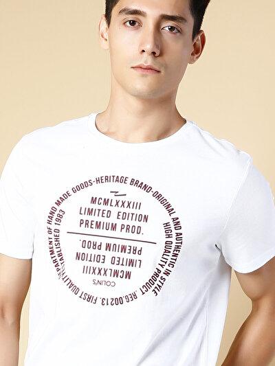 COLINS белый мужской футболки короткий рукав<br>Пол: мужской; Цвет: белый; Размер INT: M;